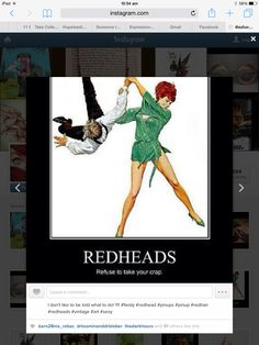 Redheads refuse to take your crap! Red Hair, Redheads, Pin Up, Sexy, Instagram, Red Heads, Ginger Hair, Ginger Hair, Pinup