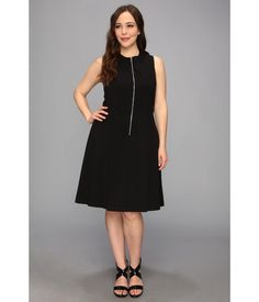 A graceful little black dress fabricated from a soft and stretchy knit in a flattering silhouette...