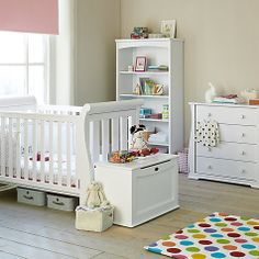 Baby Furniture Ideas Mamas & Papas Harrow 3 Piece Nursery Furniture Set  White .