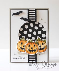 Stampin Up Seasonal Chums Card Halloween by Stampin with Liz Design