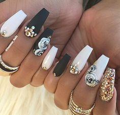 nails in 2019 uñas artísticas, uñas postizas, Sexy Nails, Glam Nails, Fancy Nails, Bling Nails, 3d Nails, Love Nails, Nail Nail, Nail Glue, 3d Nail Art