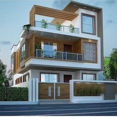 House Outer Design, Modern Small House Design, House Outside Design, Modern Exterior House Designs, Latest House Designs, House Front Design, Architect Design House, Bungalow House Design, Architecture Pdf