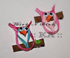 This listing is for a set of instructions to make the adorable Owl ribbon sculpture hair clip pictured. So cute! All my instructions come complete