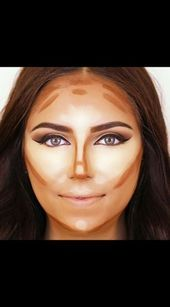 Makeup Contour Tutorial Round Face Ideas – Contouring and Highlighting Round Face Haircuts, Trendy Haircuts, Hairstyles For Round Faces, Face Contouring, Contour Makeup, Contouring And Highlighting, Contour Face, Makeup Blending, Makeup Eyeshadow