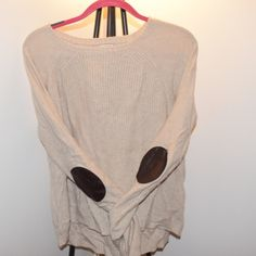 Jcrew patched elbow sweater Stylish and comfortable sweater, gently worn J. Crew Sweaters