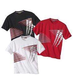 Lot de 3 Tee-Shirts Graphic #travel #voyage #atlasformen #formen #discount #shopping #ootd #outfit #formen #hommes #man #homme #men