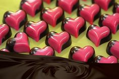 Fardoulis Chocolates - Chocolate Hearts Chocolate Hearts, Chocolates, Valentines Day, Pudding, My Love, Desserts, Food, Sweets, Valentine's Day Diy