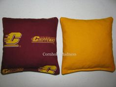 CHIPPEWAS Central Michigan University Cornhole by CornholeMadness, $26.99