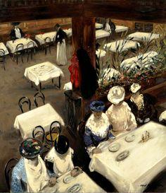 In a Cafe, 1905. Alfred Henry Maurer. Oil on canvas