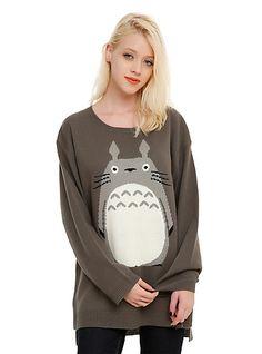 Studio Ghibli My Neighbor Totoro Girls SweaterStudio Ghibli My Neighbor Totoro Girls Sweater, BLACK