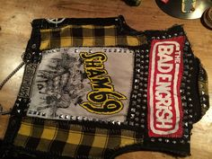 Items similar to Punk vest studs chains patches size M on Etsy Punk Jackets, Outerwear Jackets, Battle Jacket, Diy Patches, Jean Vest, Gothic Outfits, Diy For Girls, Dark Fashion, Boys Shirts