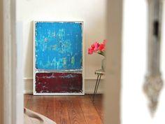 """Acrylmalerei - Abstrakte Kunst Titel """" SHABBY """" 60cm x 90cm - ein Designerstück von simeART bei DaWanda"""