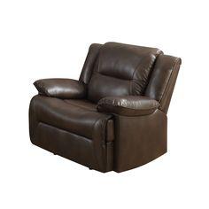 Acme Furniture Romulus Espresso Leather-Aire Match Glider Recliner