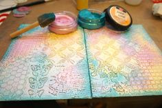 Tutorial... Watercolor and Metallic Wax Pastes for altered Book Cover