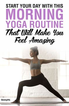 Start Your Day With This Morning Yoga Routine That Will Make You Feel Amazing! #yoga #routine #inspiration #poses #beginner #flexible #calm #relaxing #energy #mood #workout #fitness #tips #body