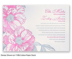 Vintage Wild Roses Letterpress Wedding Invitation by David's Bridal