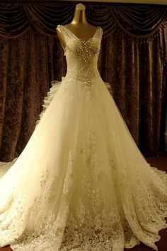 Luxurious Princess Wedding Dress,Dresses For Brides,Bridal Gown