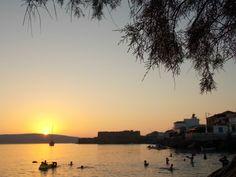 Sigri Lesvos-sunset at the beach