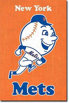 New York Mets MLB Baseball Sports Team Logo Sports Poster Print Photo