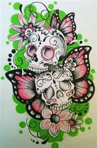 switch the butterfly wings to a set of angel & demon wings. & flowers to roses