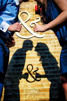 we ❤ this! moncheribridals.com #engagementphotos #savethedatephotos #shadowengagementphotos