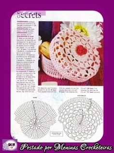 Meninas Crocheteiras: Receitas e Gráficos de crochê endurecido