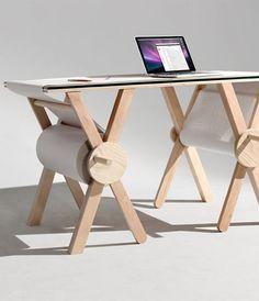 Schluss mit der Zettelwirtschaft Der Memory Desk hat 1000 Meter Notizpapier