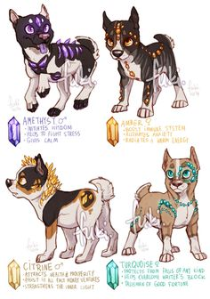 Gemstaffs - adoptable auctions - CLOSED - 1 by Fuki-adopts on DeviantArt (these are mine, I just think they're pretty cute. Pet Anime, Anime Animals, Cute Animals, Arte Furry, Furry Art, Mythical Creatures Art, Cute Creatures, Cute Animal Drawings, Cute Drawings