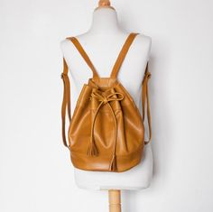 Drawstring leather Backpack by morelle