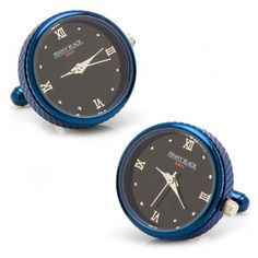 Blue Stainless Steel Functional Watch Cufflinks - Watches - Interests | CuffLinks.com