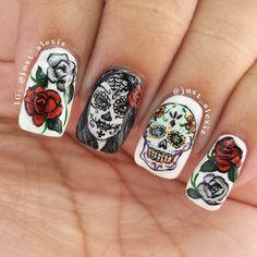 #skull nails                                                                                                                                                                                 More