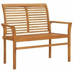 Wooden Garden Benches, Outdoor Garden Furniture, Patio Chairs, Outdoor Chairs, Beige Cushions, Teak Furniture, Garden In The Woods, Design, Hard Wood