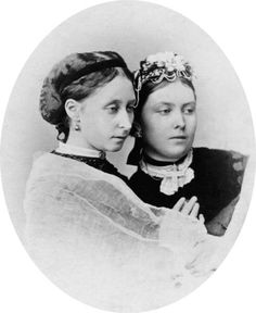 """Princess Alice and Victoria, Princess Royal.  Princess Alice was Queen Victoria's second daughter, mother of the last Empress of Russia and great-grandmother of Prince Philip.  Victoria became Empress of Germany briefly (her husband, Frederick III, died after 99 days on the German throne).  Their son was the infamous """"Kaiser Bill"""","""
