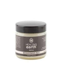 Healing Earth – Mongongo Nut Detox Balm.  The Healing Earth balms with its powerful indigenous ingredients and aromatherapy oils have been developed to keep the ultimate hydration and therefore less ageing effects for the face and body. By not using any harmful and synthetic actives to promote healthy and radiant skin all around the year if used regularly.
