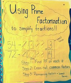 All Things Upper Elementary: Guest Post Middle School Math Moments: Learning to Love Prime Factorization--connect to simplifying rational expressions Math Teacher, Math Classroom, Teaching Math, Teaching Ideas, Teaching Resources, Classroom Ideas, Math Help, Fun Math, Learn Math