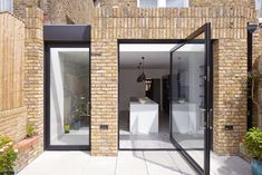 Beechdale House, London / Paul Archer Design In the original ground floor layout the kitchen was isolated from the rest of the Beechdale house, particularly the two elegant reception . Brick Extension, House Extension Design, Rear Extension, House Design, Extension Ideas, Mews House, Brick Detail, Floor Layout, Small Buildings