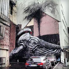 Street Art: ROA y su nuevo mural en Noruega - La Miscelánea