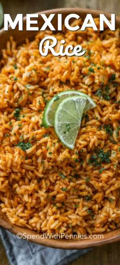 We love making this authentic Mexican rice recipe for taco night. It's an easy and delicious side dish that goes great with tacos, burritos, and enchiladas! #spendwithpennies #mexicanrice #rice #mexican #mexicanricerecipe #easymexicanrice #authenticmexicanrice