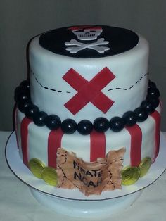 Pirate cake - add Jake and the NLP's characters/theme colors