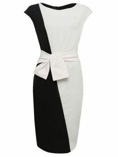 kup Women's Bodycon Dress Color Block OL Style O Neck Black Dress & Sukienki - w Jollychic Simple Dresses, Pretty Dresses, Casual Dresses, Dresses For Work, Women's Casual, Mode Outfits, Dress Outfits, Fashion Outfits, Punk Fashion