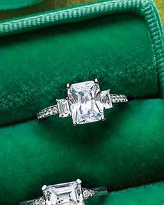 Emerald-Cut Diamond Engagement Ring