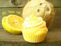 Coconut Lemongrass Cupcake Soap cold processvegan by TheSudsCafe, $4.99