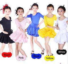 Childrens Latin Salsa tango Cha cha Ballroom Dance Dress Girls Dancewear For Kids FREE SHIPPING 8182 US $39.99