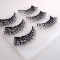 Free shipping 3pcs/lot 100% handmade real mink fur false eyelash 3D-12 strip mink lashes thick fake faux eyelashes Makeup beauty