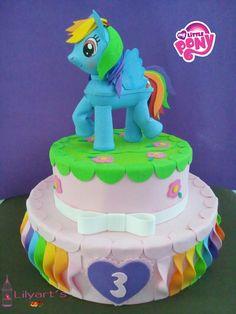 Pastel falso de foamy Rainbow dash de my little pony