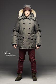 Macondoo Mens Fleece Fleece Lined Winter Faux Fur Hooded Toggle Parka Jackets Coat