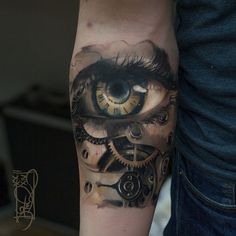 Eye and Steampunk tattoo