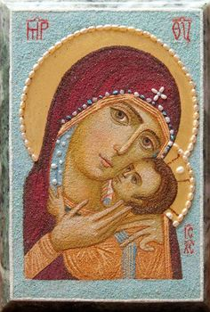 Mother of God of Kasperovo, $421.00,  Handmade. Available in the following…