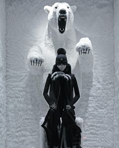 "MONCLER, ""Do not look back you're not going that way"", pinned by Ton van der Veer Winter Window Display, Window Display Design, Store Window Displays, Retail Displays, Retail Windows, Store Windows, Vitrine Design, Fashion Displays, Visual Merchandising Displays"