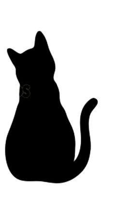 Katzen Silhouette Black Cat Art Black Cat Silhouette Black Cat Tattoos